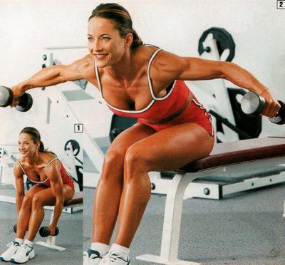 упражнения на плечи в зале для девушек