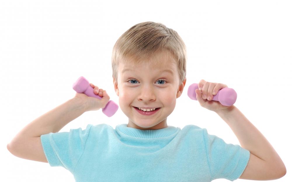 как ребенку накачать мышцы рук