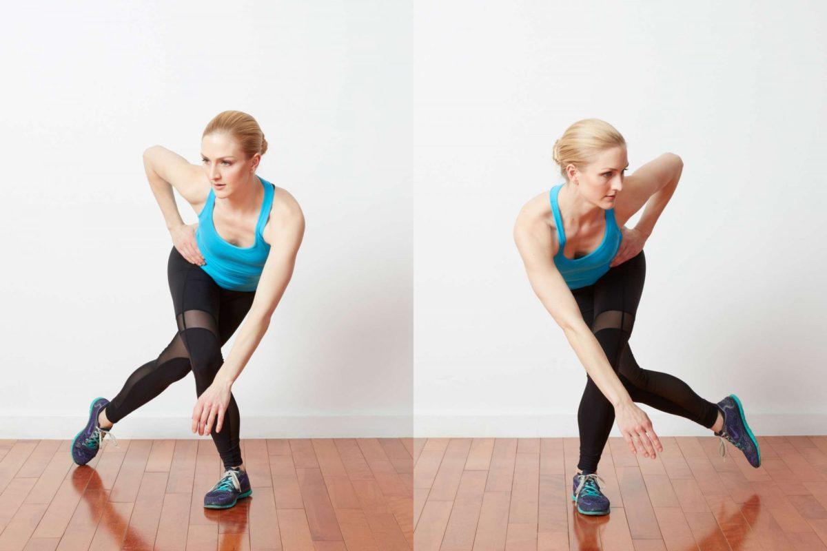 Упражнение конькобежец