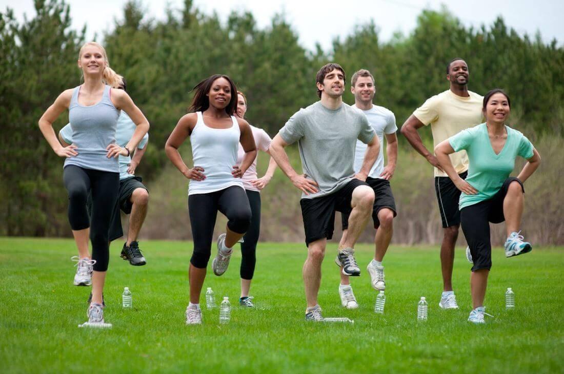 Упражнение бег на месте