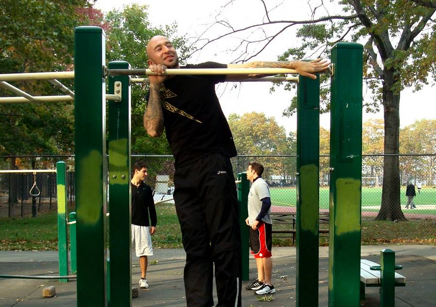 Упражнение подтягивание