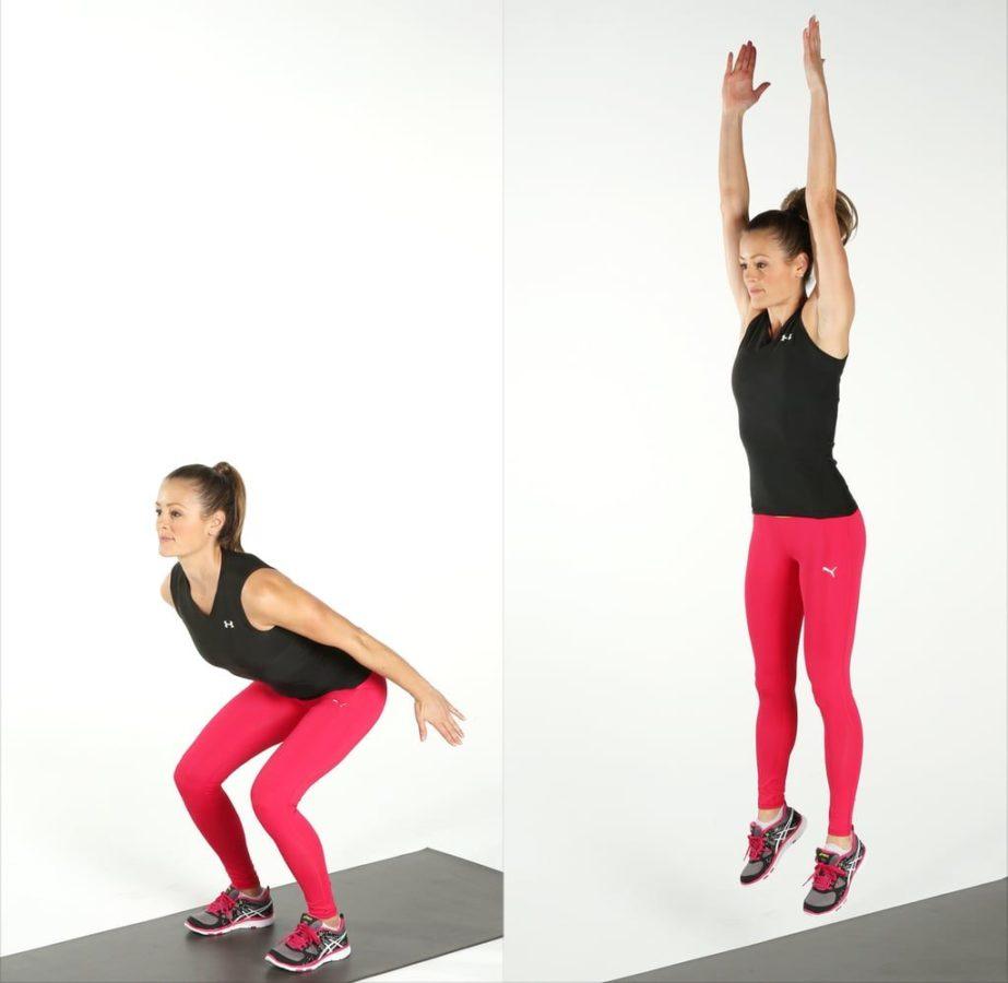 Упражнение прыжки на месте