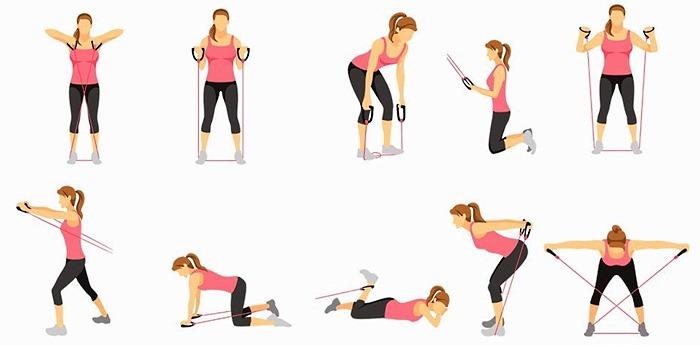 Упражнения с резинкой для спины
