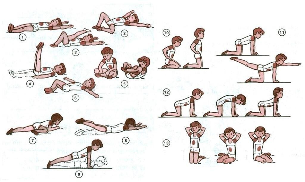 Упражнения на формирование правильной осанки у детей дошкольного возраста