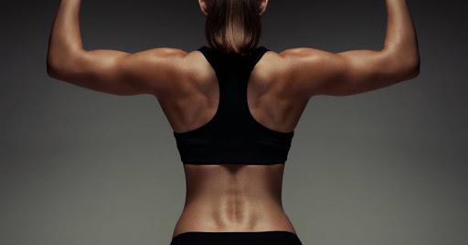 убираем жир на спине