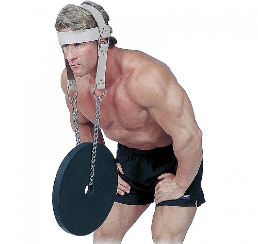 как накачать шею помощью лямки